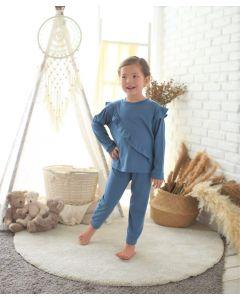 Takoyakids Rin Pyjamas Sets Steel Blue