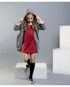 Feather & Flynn Milly Parka with Hoodie in Gray