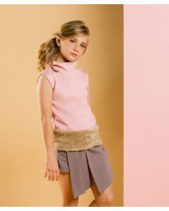 Feather & Flynn Raven Asymetric Knot Skort in Rosy Brown