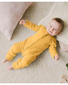 Takoyakids Essentials Azuki Zipper Sleepsuits Mustard