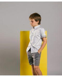 Feather & Flynn Aiden Short Sleeves Shirt in Light Gray