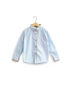 Feather & Flynn Connor Long Sleeve Shirt in Blue Stripes
