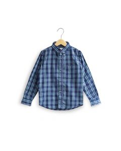 Feather & Flynn Connor Long Sleeve Shirt in Navy Checked