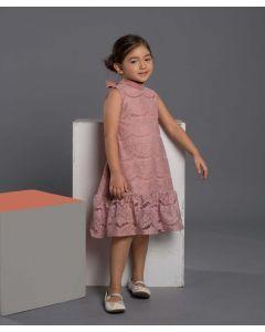 Feather n Flynn Emily Lace Dress Dusty Pink