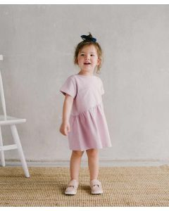 Piccola Sienna Dress with Back Ribbon Dusty Pink