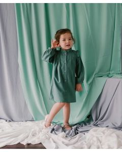 Piccola Aria Ruffle Dress Dusty Mint