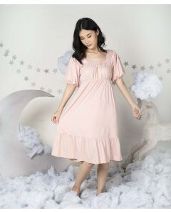 Takoyakids X Margenie Aera Puff Sleeves Dress Adult Blush All Size