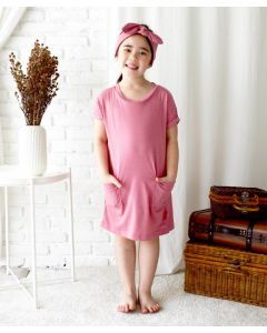 Takoyakids Kimi Long Tees Dusty Rose