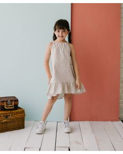 Piccola Bianca Dress Light Gray