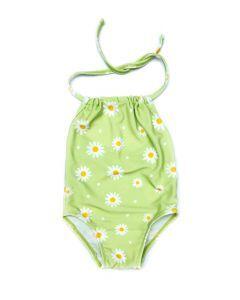 Little Whimsea Daisy Swimsuit in Lime