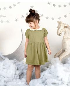 Takoyakids Maia Collared Dress Olive