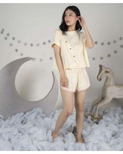 Takoyakids X Margenie Ryu Oversized Crop Tee Sets Adult Cream All Size