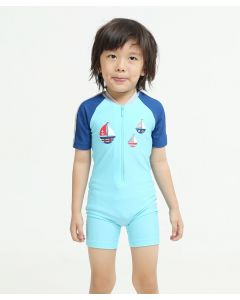 Lee Vierra Kids Nautical Boat Diving Baju Renang Anak Blue