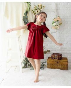 Takoyakids Yura Dress Maroon